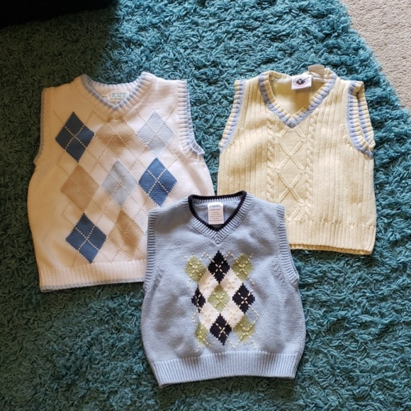 e88f005884e2f Lot of 3 Baby Toddler Boys Sweater Vests